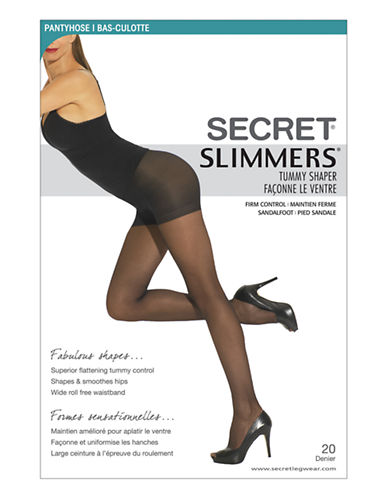 Secret Hosiery Secret Slimmers Tummy Shaper-BLACK-D