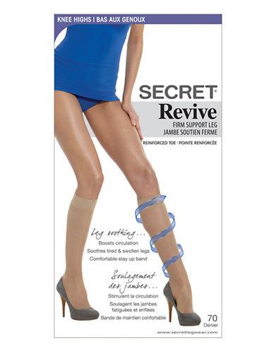 Secret Hosiery Secret Revive Firm Support Leg-BLACK-One Size