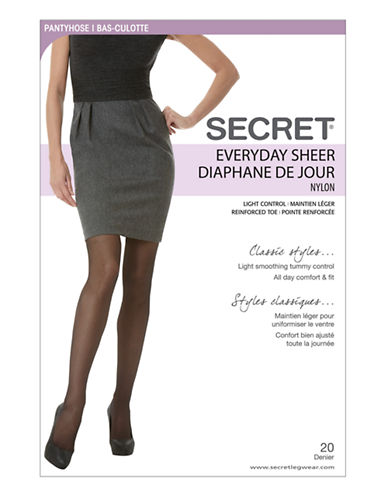 Secret Hosiery Secret Everyday Sheer-BLACK-D