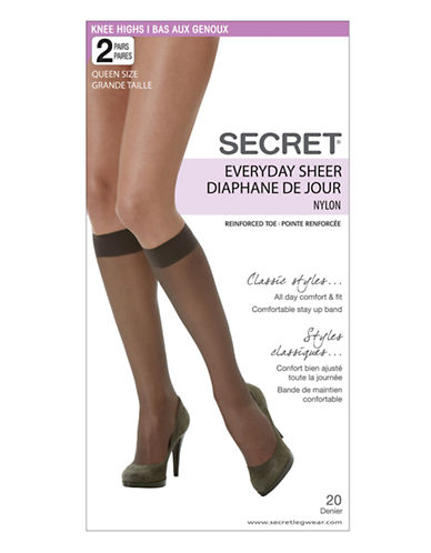 Secret Hosiery Secret Everyday Sheer-GREY-Queen