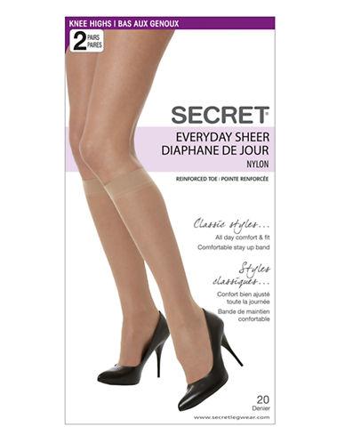 Secret Hosiery Secret Everyday Sheer-BLACK-1