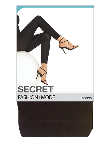 Secret Hosiery Plain Legging-BLACK-A/B