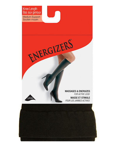 Silks Energizer Medium Support Opaque Knee High-BLACK-One Size
