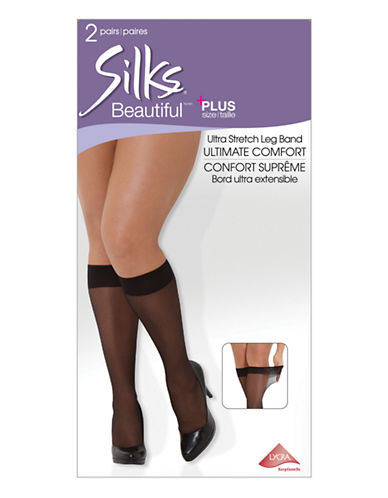 Silks Beautiful Plus Knee High-NATURAL-Tall