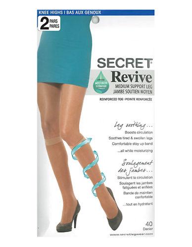 Secret Hosiery Secret Revive Medium Support Leg-BLACK-One Size
