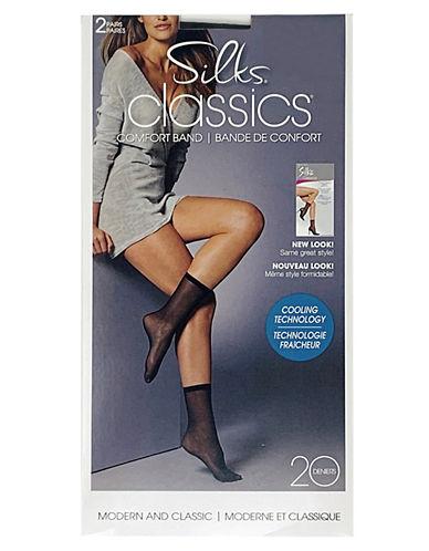 Silks Comfort Band Sheer Anklet-NATURAL-One Size