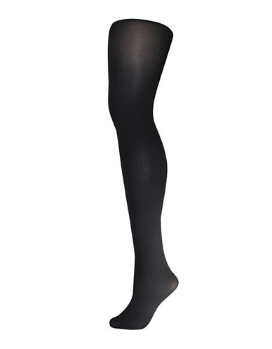 Silks Premium Super-Soft Opaque Tights-BLACK-1