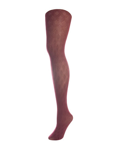 Silks Diamond Control Top Tights-RED-2
