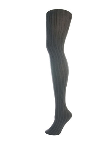 Silks Vertical Zig Zag Control Top Tights-GREY-1