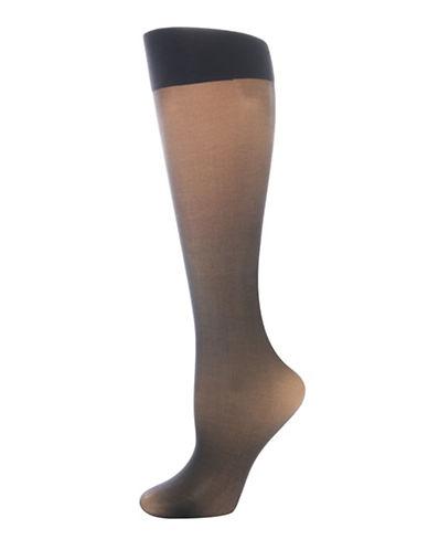 Secret Hosiery Comfort Band Knee Highs-BLACK-One Size