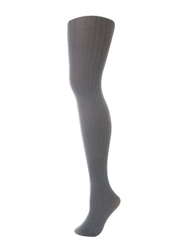 Secret Hosiery Ribbed Heather Tights-GREY-Large/X-Large 88443905_GREY_Large/X-Large