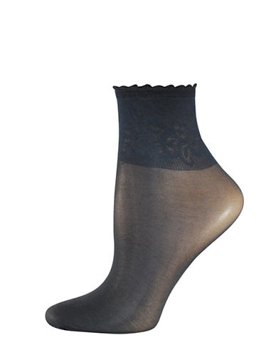 Silks Lace Band Opaque Anklet Socks-BLACK-One Size