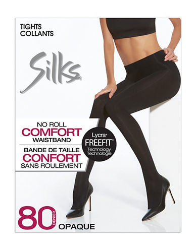 Silks Comfort Waistband Tights-BLACK-1