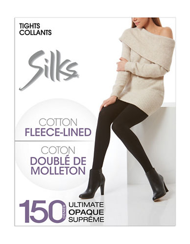 Silks Fleece Tights-BLACK-2