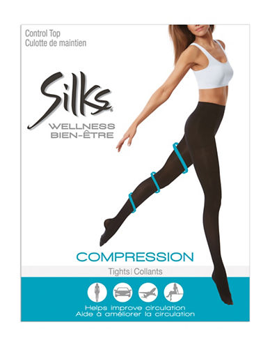 Silks Medium Support Compression Tights-BROWN-D