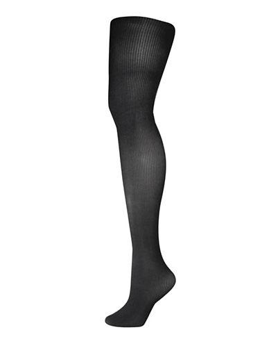 Silks Shape Multi-Shaping Ribbed Tights-BLACK-2