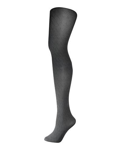 Silks Fashion Basketweave Control Top Tights-GREY-3