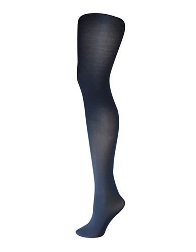 Silks Fashion Basketweave Control Top Tights-BLUE-1