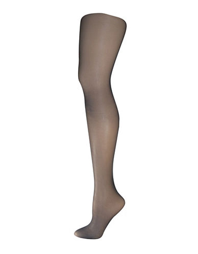 Silks Backseam Control Top Pantyhose-BLACK-B