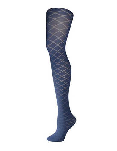 Silks Fashion Diamond Control Top Tights-BLUE-3