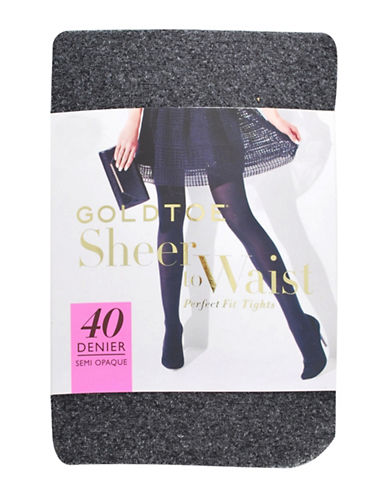 Goldtoe Sheer to Waist 3D Stretch Tights-GREY-C