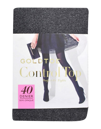 Goldtoe 40 Denier Control Top 3D Tights-GREY-A/B