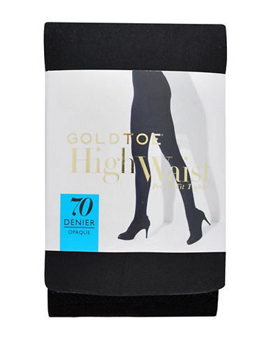 Goldtoe 3D Stretch High-Waist Tights-BLACK-C