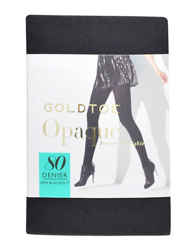 Goldtoe Opaque Semi Blackout Tights-BLACK-C