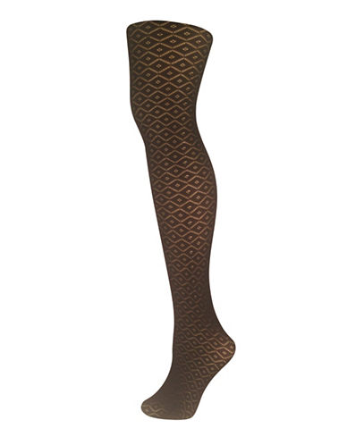 Secret Hosiery Diamond Crochet Tights-BLACK-C/D
