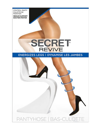 Secret Hosiery Medium Support Control Top Pantyhose-BEIGE-D