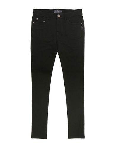 Silver Jeans Kids Amy 1104 Skinny Ponte Jeans-BLACK-10