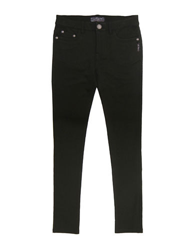 Silver Jeans Kids Amy 1104 Skinny Ponte Pants-BLACK-6X