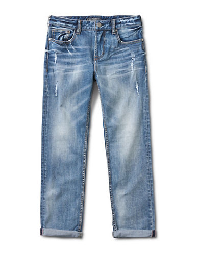 Silver Jeans Kids Cara 1245 Loose-Fit Boyfriend Denim Pants-BLUE-6