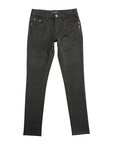 Silver Jeans Kids Amy 1104 Skinny Ponte Pants-GREY-6X