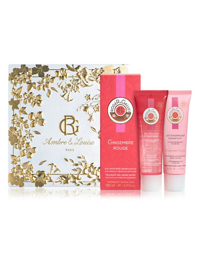 Roger & Gallet Three-Piece Gingembre Rouge Intense Fragrant Water Set-NO COLOR-One Size