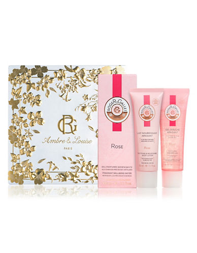 Roger & Gallet Three-Piece Rose Fragrant Water Set-NO COLOR-One Size