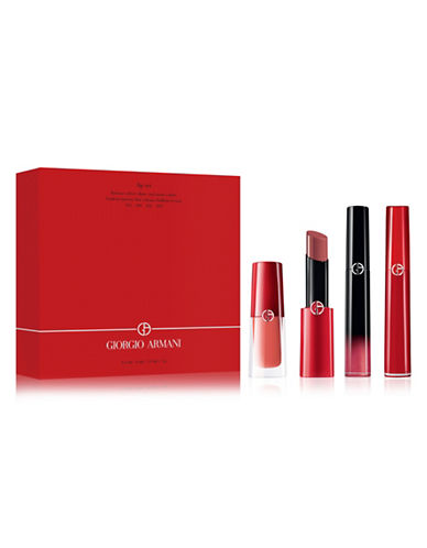 Giorgio Armani Four-Piece Lip Quatuor Set-ASSORTED-One Size