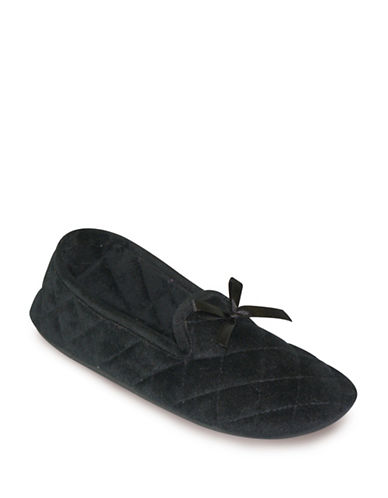 Tender Tootsies Group LEXI-L16111 Smoking Slippers-BLACK-Small