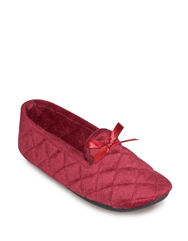 Tender Tootsies Group LEXI-L16111 Smoking Slippers-RED-Small