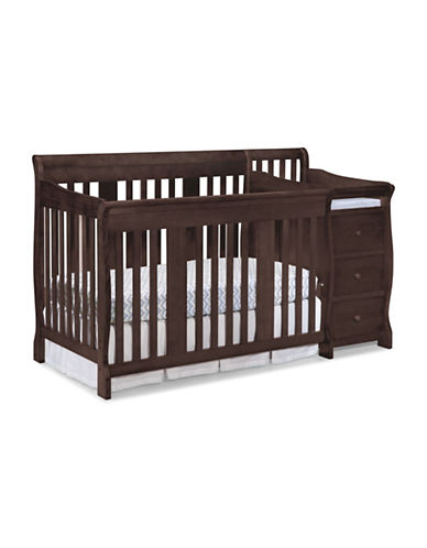 Storkcraft Portofino 4-in-1 Convertible Crib and Changer-BROWN-One Size