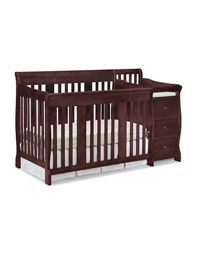 Storkcraft Portofino 4-in-1 Convertible Crib and Changer-RED-One Size