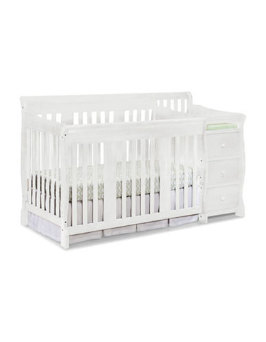 Storkcraft Portofino 4-in-1 Convertible Crib and Changer-WHITE-One Size