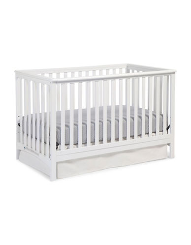 Storkcraft Hillcrest Fixed Side Convertible Crib-WHITE-One Size