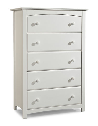 Storkcraft Kenton Five-Drawer Chest-WHITE-One Size