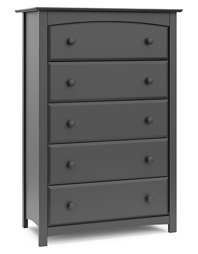 Storkcraft Kenton Five-Drawer Chest-GREY-One Size