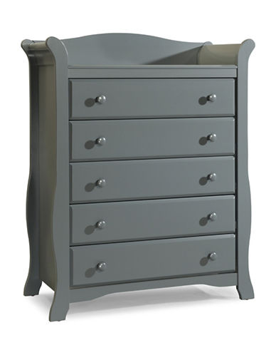 Storkcraft Avalon Five-Drawer Chest-GREY-One Size