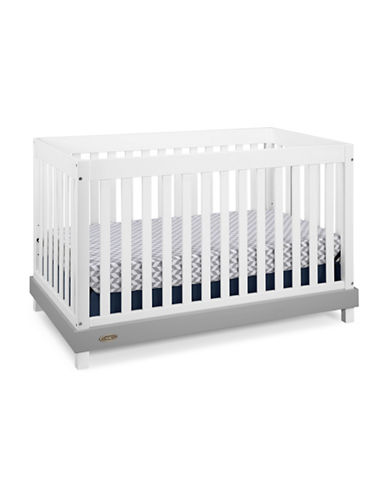 Graco Maddox Convertible Crib-WHITE/GREY-One Size