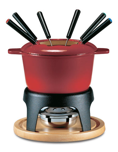 Swissmar Sierra 11pc Cast Iron Fondue Set-RED-One Size