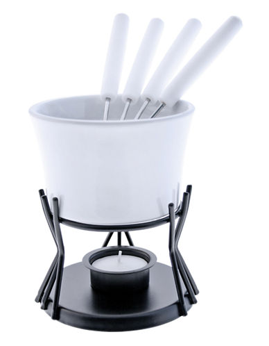 Swissmar Seven-Piece Kindle Fondue Set-WHITE-One Size