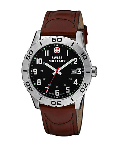 Swiss Military Mens Grenadier Standard Watch-BROWN-One Size